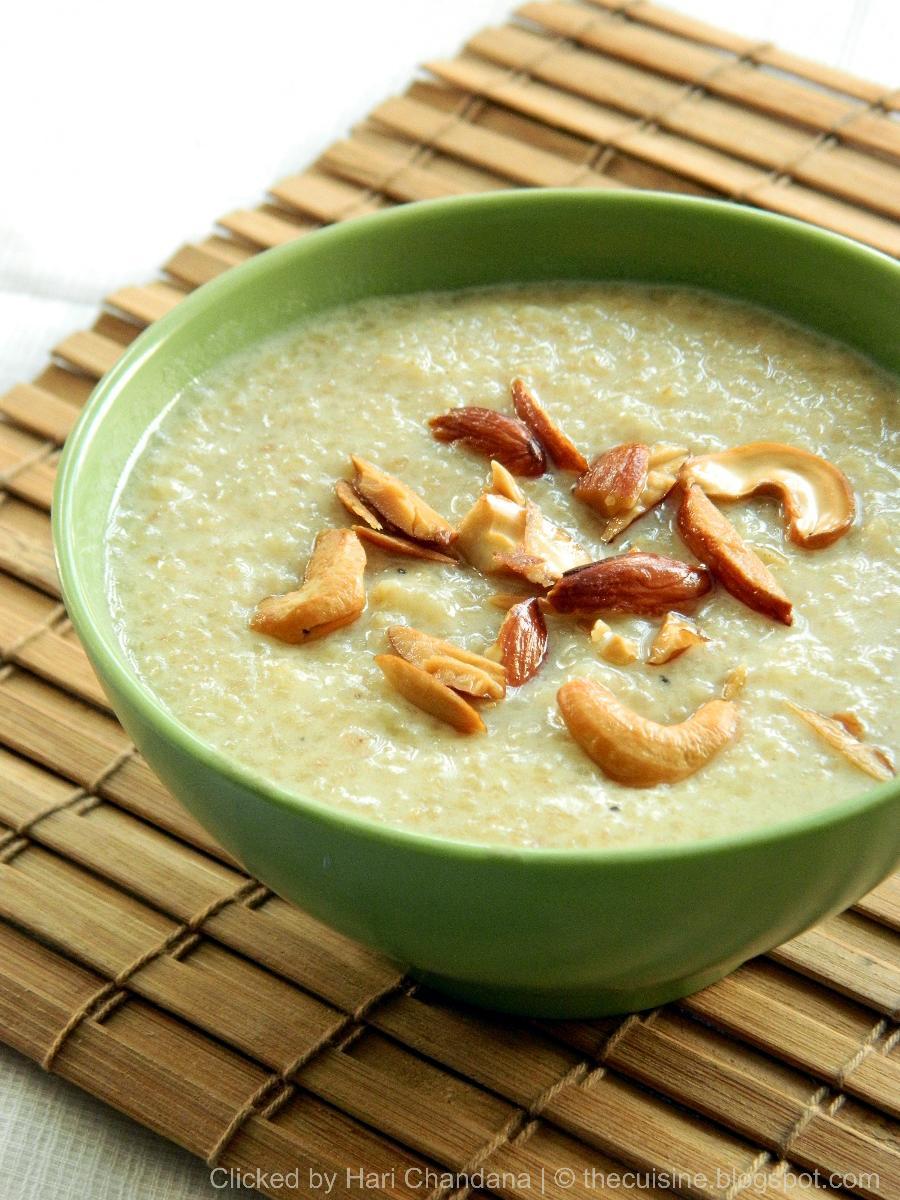 wheat rava payasam, godhuma rava payasam recipe