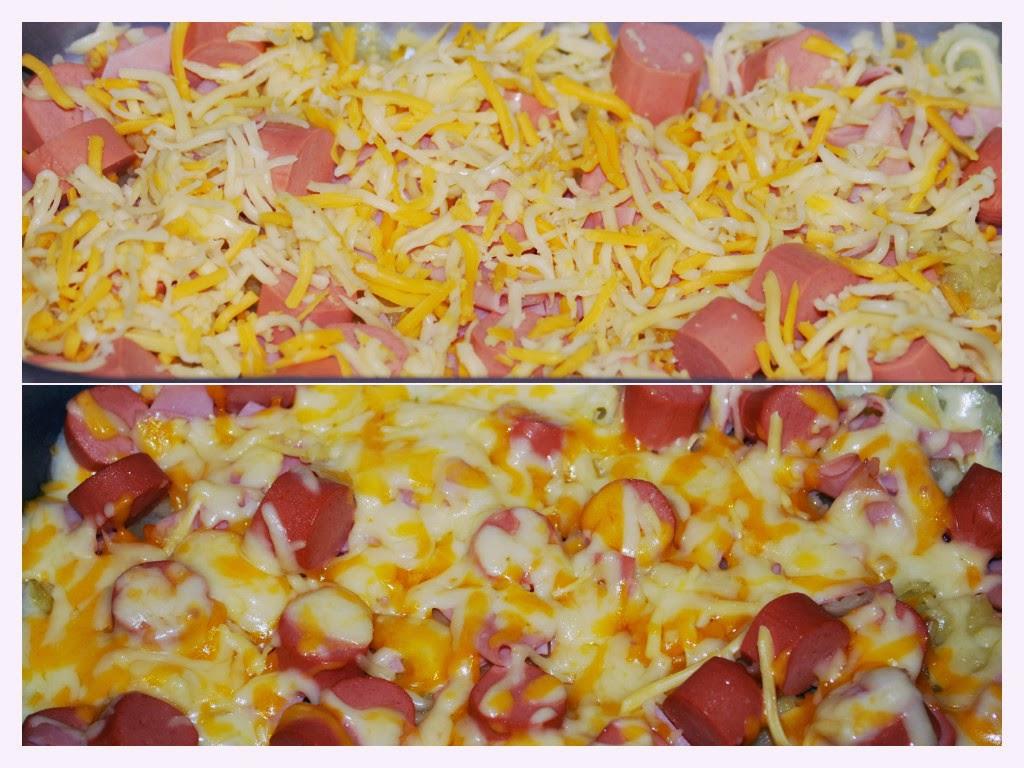 Salchichas Con Queso Y Patatas Al Horno