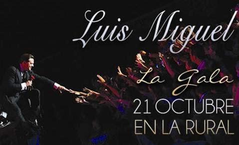 Luis Miguel en La Rural Buenos Aires 21 de octubre de 2014 venta de entradas