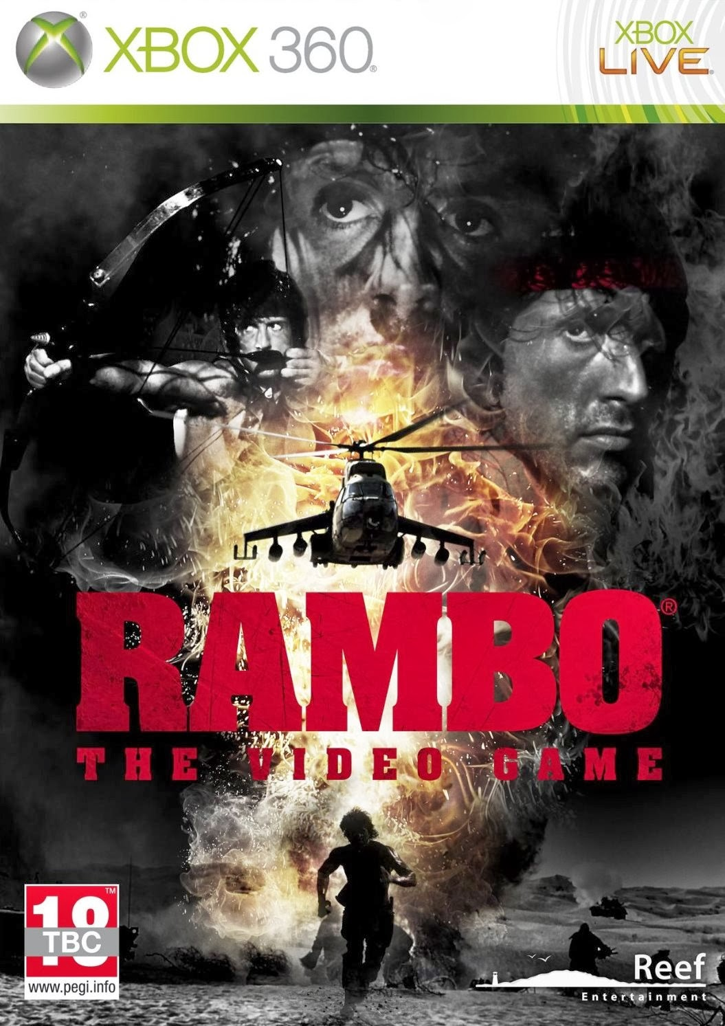 jaquette Jeu Rambo the videogame xbox360