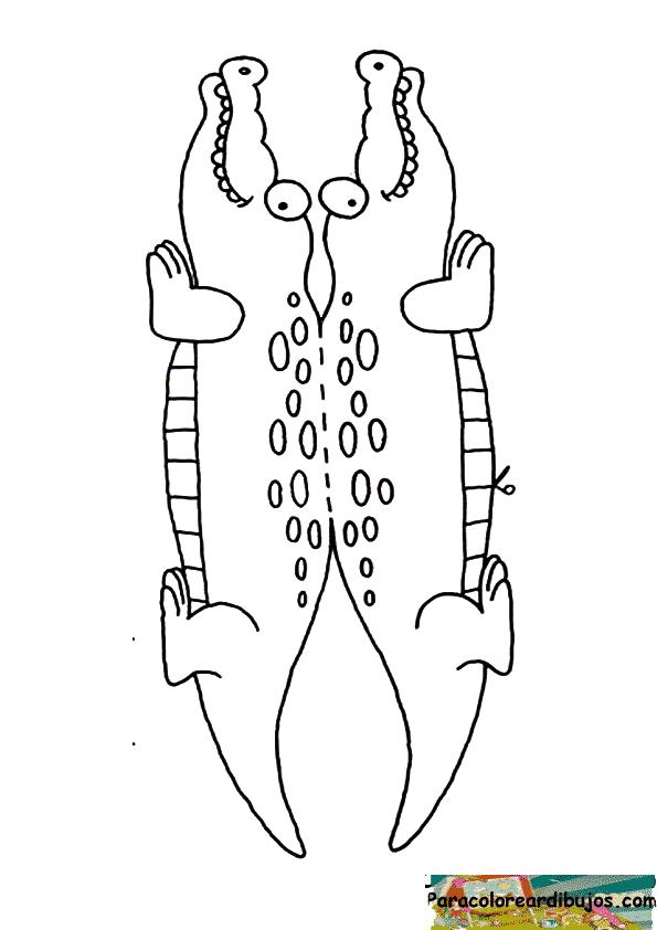 cocodrilo para recortar y colorear | Para colorear dibujos y dibujos