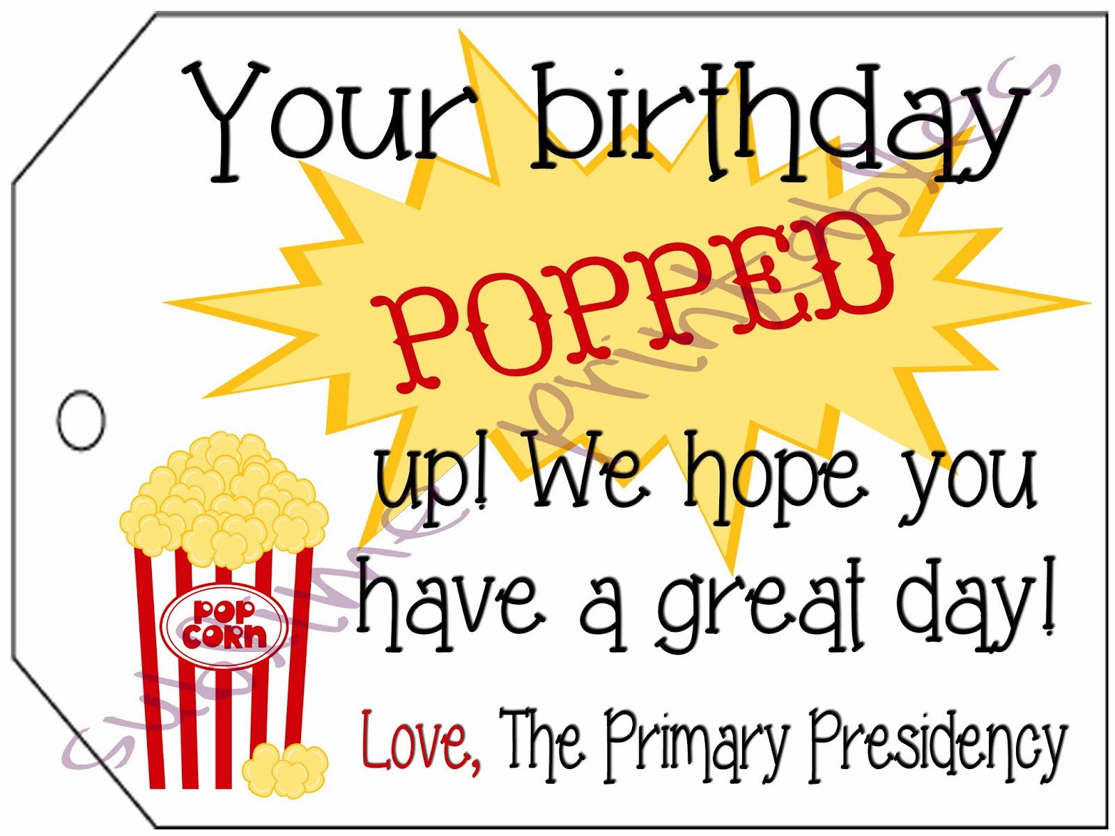 2013 lds primary birthday handouts | just b.CAUSE