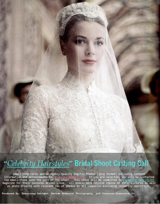 """Celebrity Hairstyles"""" Bridal Shoot Casting Call, Metro Detroit"""