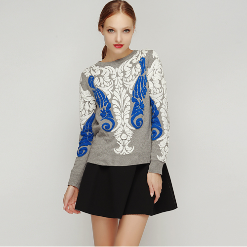 Baroque Embossed Sweater