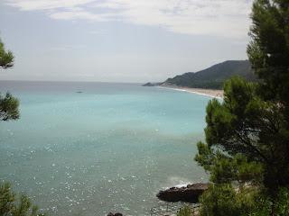 Platja del Torn nudist beach landscape turquoise sea - L´Hospitalet de L'Infant - Tarragona