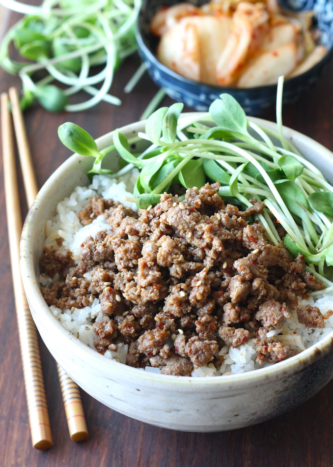Spicy Korean Beef Rice Bowl recipe by SeasonWithSpice.com