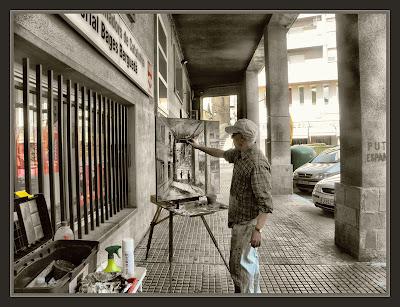 BERGA-PINTURA-PLAÇA-VILADOMAT-PASSEIG-INDUSTRIA-FOTOS-PAISATGES-PINTOR-ERNEST DESCALS-