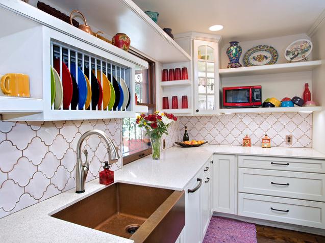 objeto decoracao cozinha:French Country Kitchen Tile Backsplash