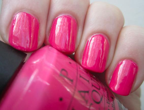 Strawberry nail polish