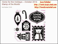 OCTOBER STAMP OF THE MONTH - Home for the Holidays