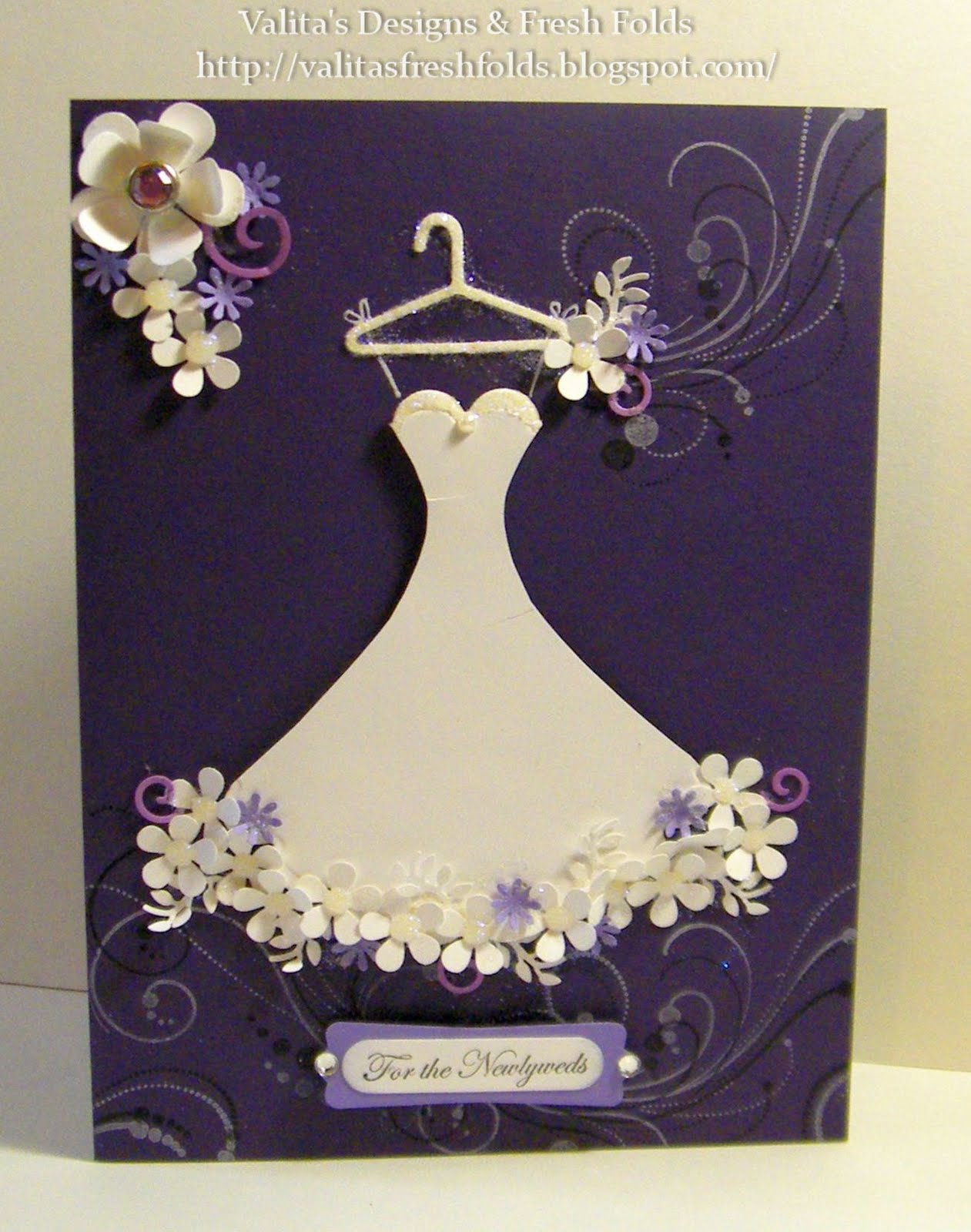 Valitas Designs Fresh Folds Wedding Dress card