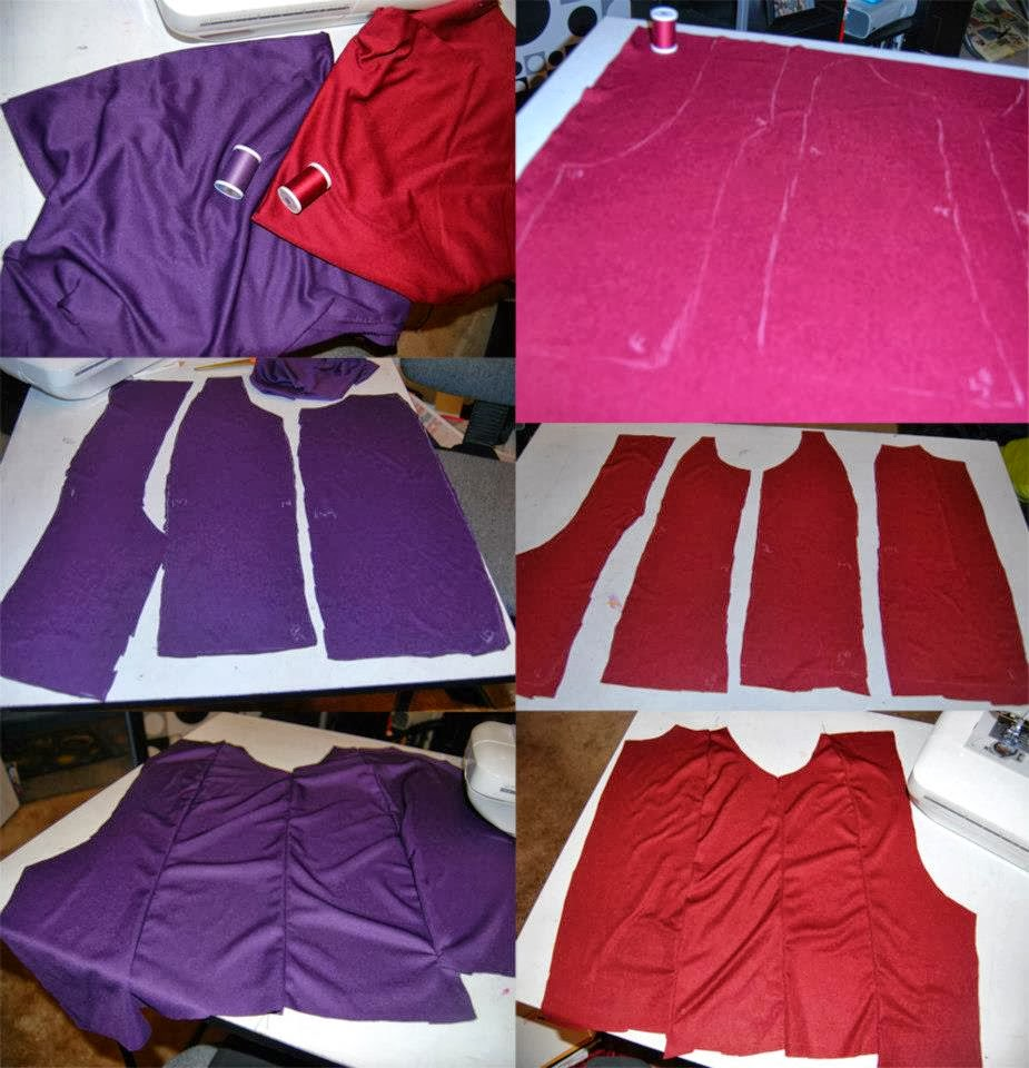 Injustice harley quinn cosplay tutorial malicious cosplay for the ruffle i sewed a tube in red and one in purple i then turned them right side out and used the gathering techniquesee link to gathering tutorial at baditri Images
