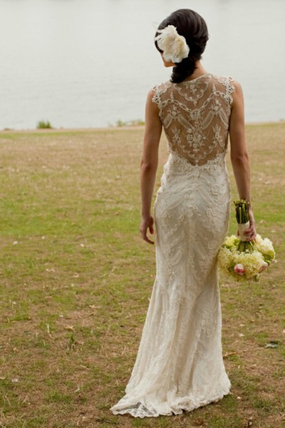 heart wedding dress lace back wedding dresses