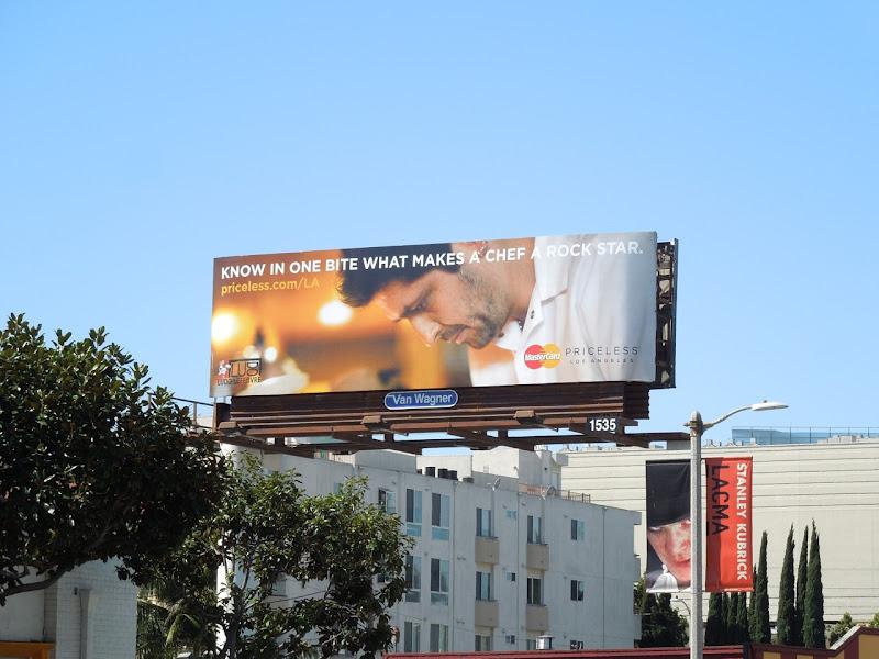 MasterCard Priceless Chef Rock star billboard