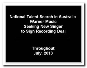 Warner Music Australia National Talent Search 2013
