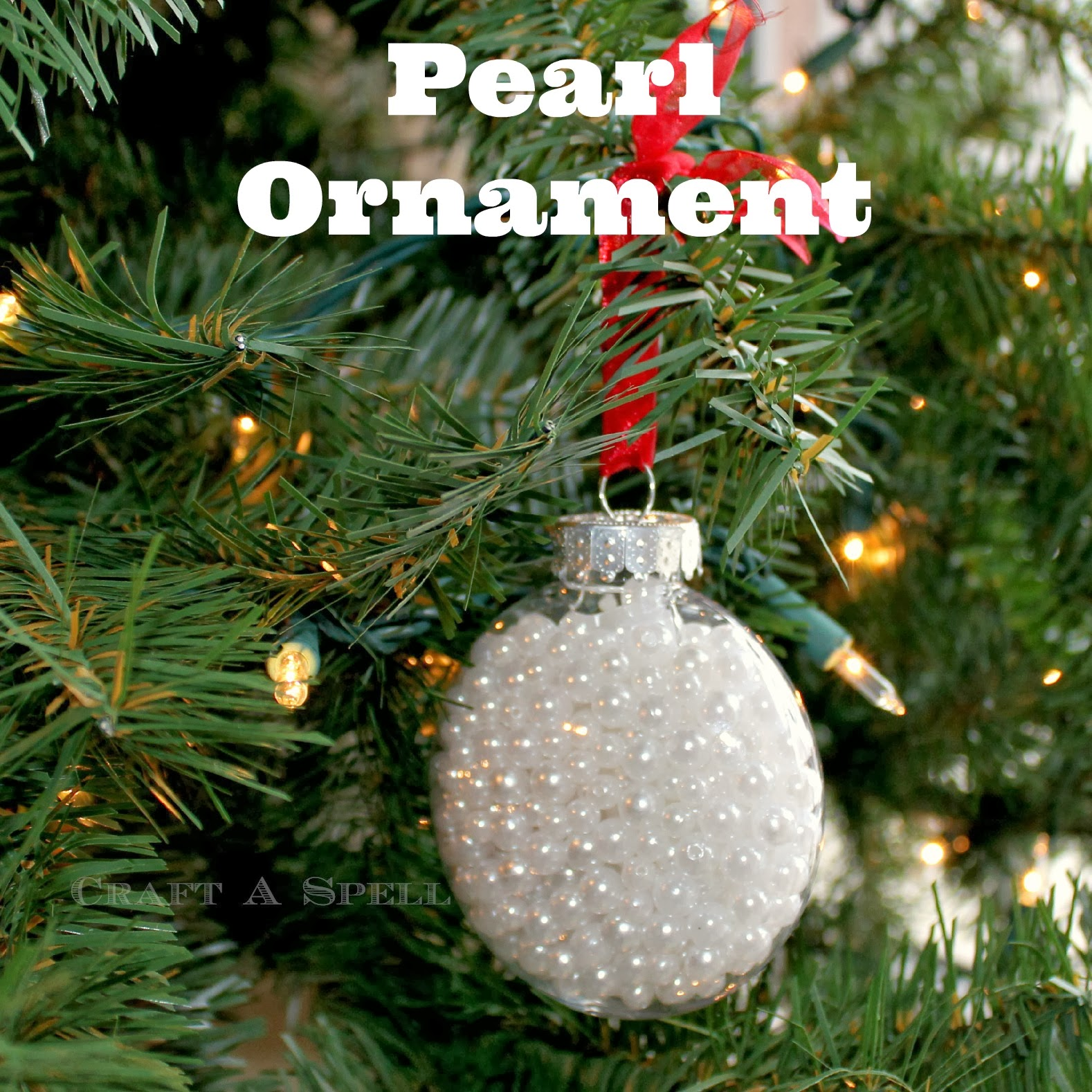 Craft A Spell Pearl and Pinecone Ornaments