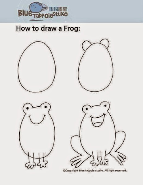 Learn to draw  a frog  for kids