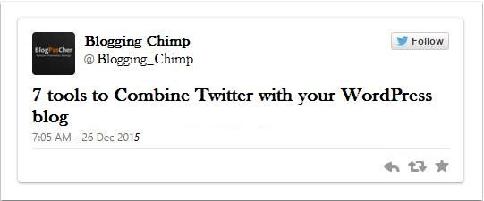 Blogging twitter