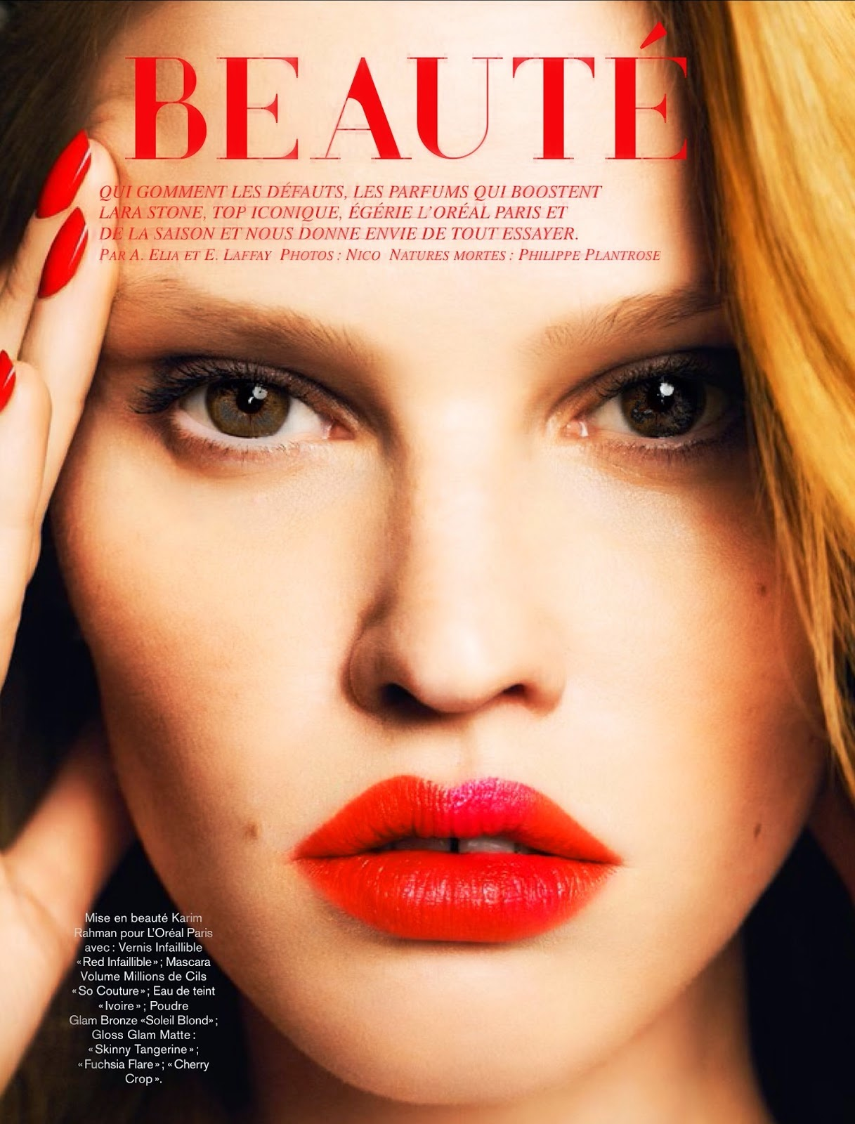 Lara Stone - Glamour France May 2014