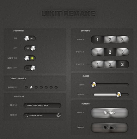 iPhone UI Kits Light Remake