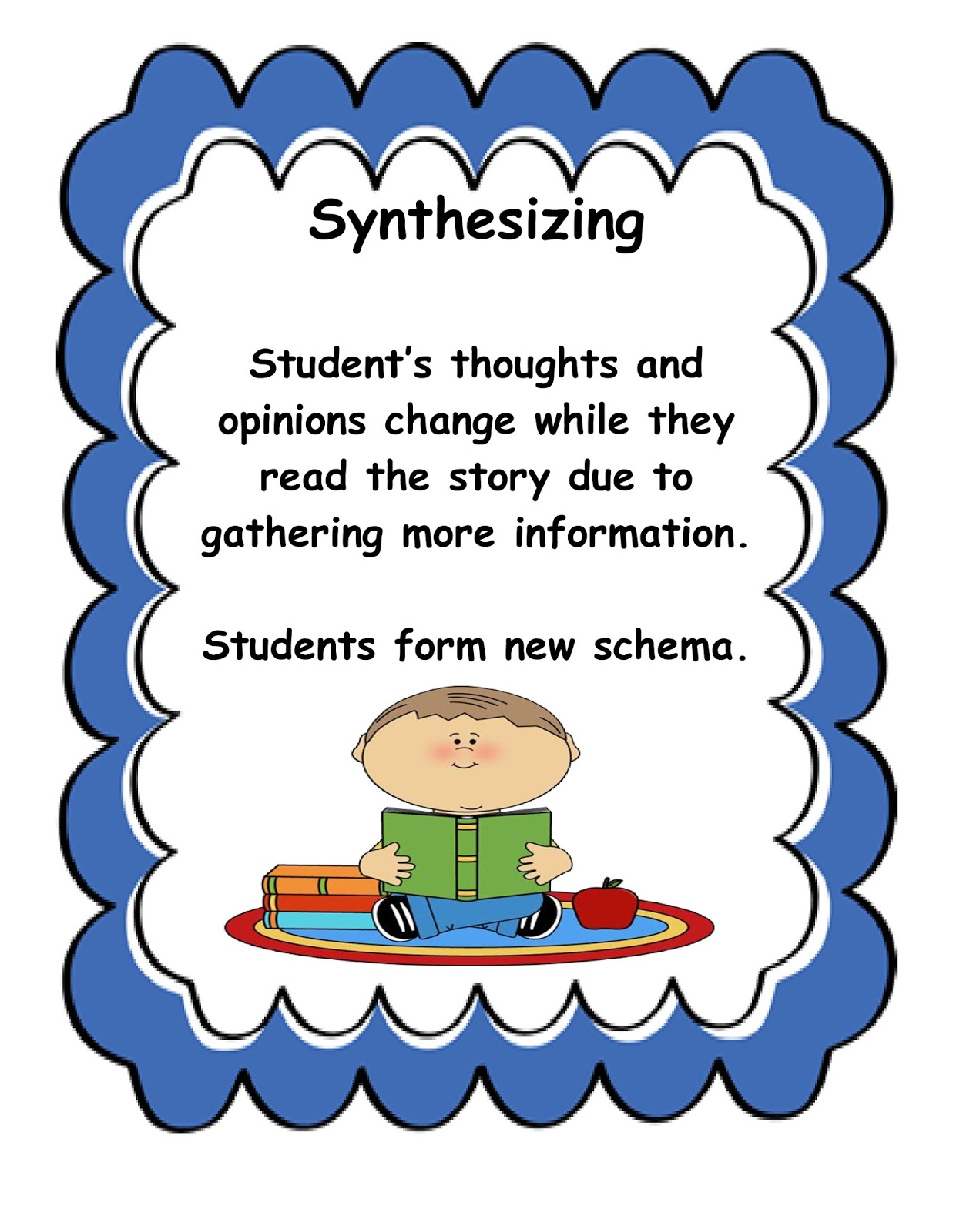 reading strategy synthesising 12 comprehension strategies  to monitor our reading, to synthesize new information, and to  when you use the strategies: is my prediction good or do i need to .