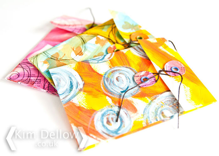 Click to this mixed media envelope tutorial on the Blitsy Blog