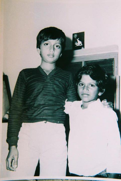Kannada Actor Kiccha Sudeep  Left  Childhood Pic with Kannada Actor    Vishnuvardhan Marriage Photos Kannada Film Actor