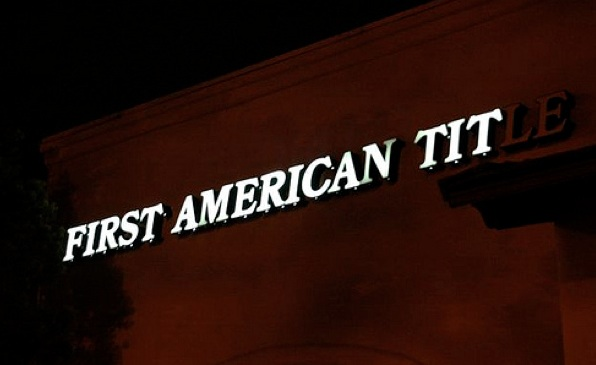 first american title neon sign fail
