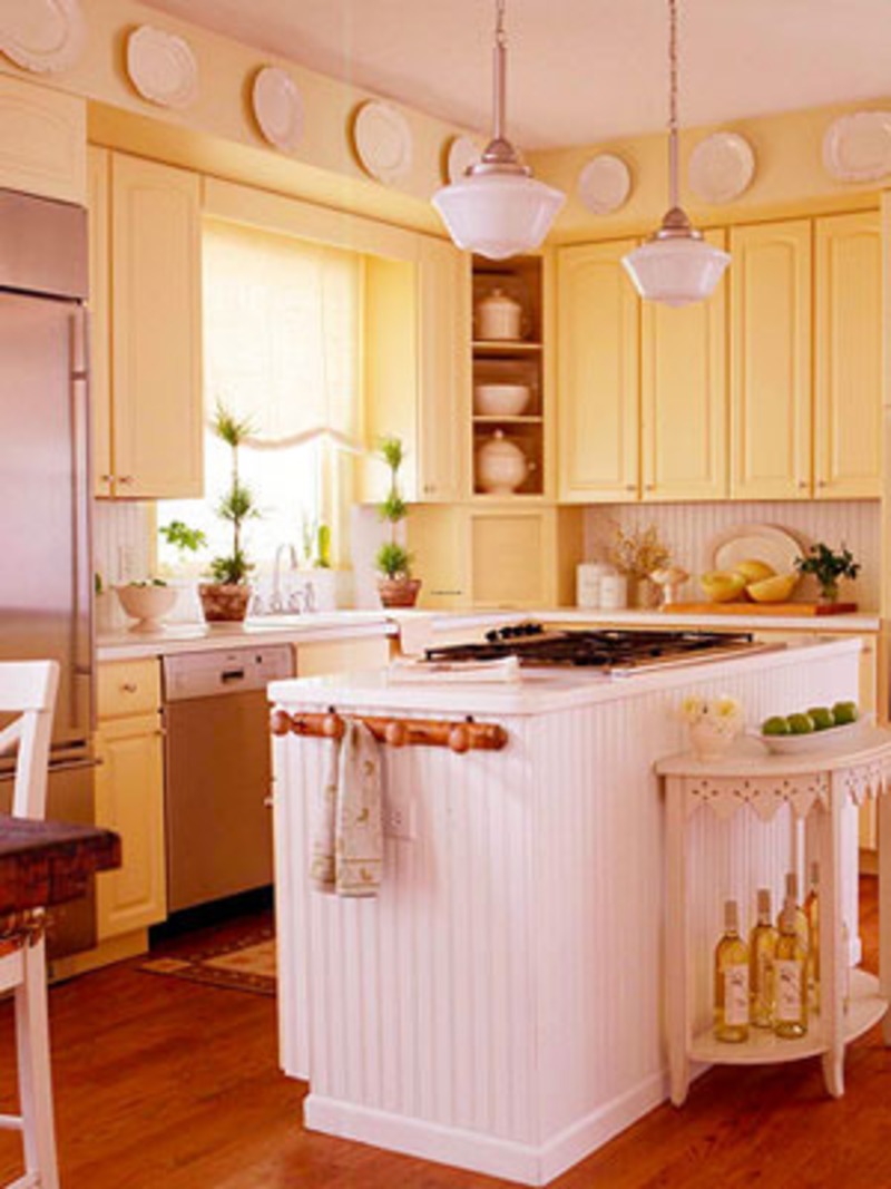 Make your life colorful cook more fun in the yellow kitchen for Kitchen cabinets yellow