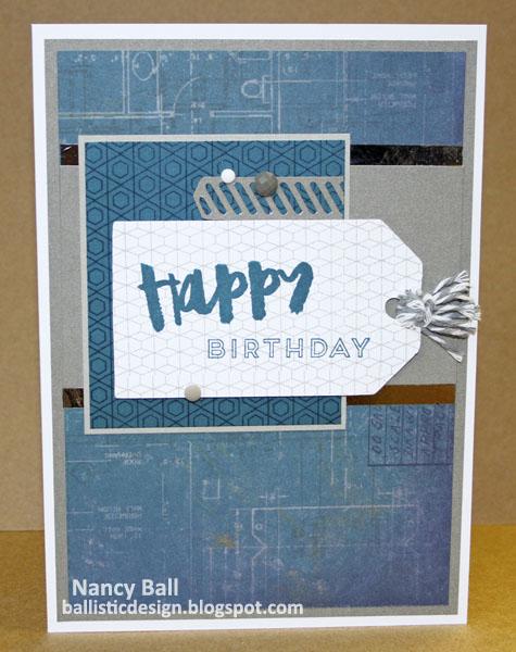 Nancys Crafty Blog A Manly Birthday Card