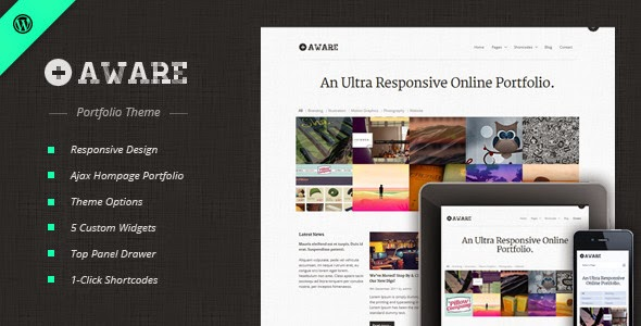 Aware Responsive Wordpress Portfolio Theme Version 1.2.9 free