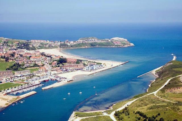 Imagen panorámica de Suances en Cantabria