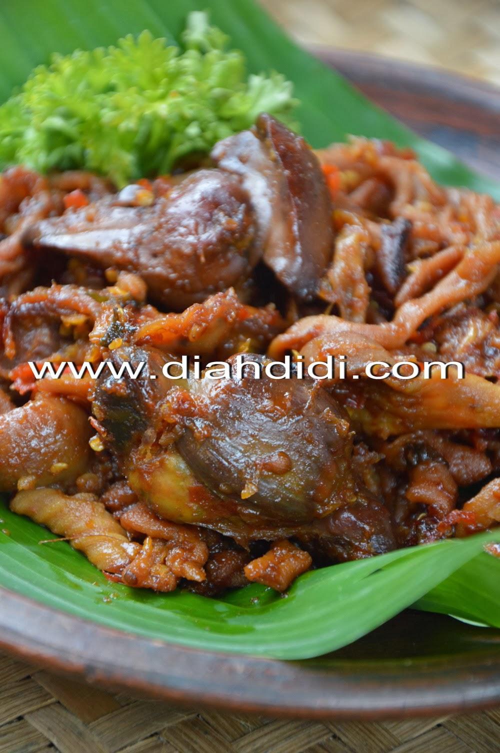 Diah Didi S Kitchen Usus Ayam Dan Ati Ampela Bumbu Pedas Manis