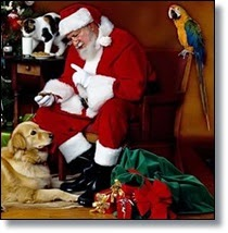 Picture of Santa and pets