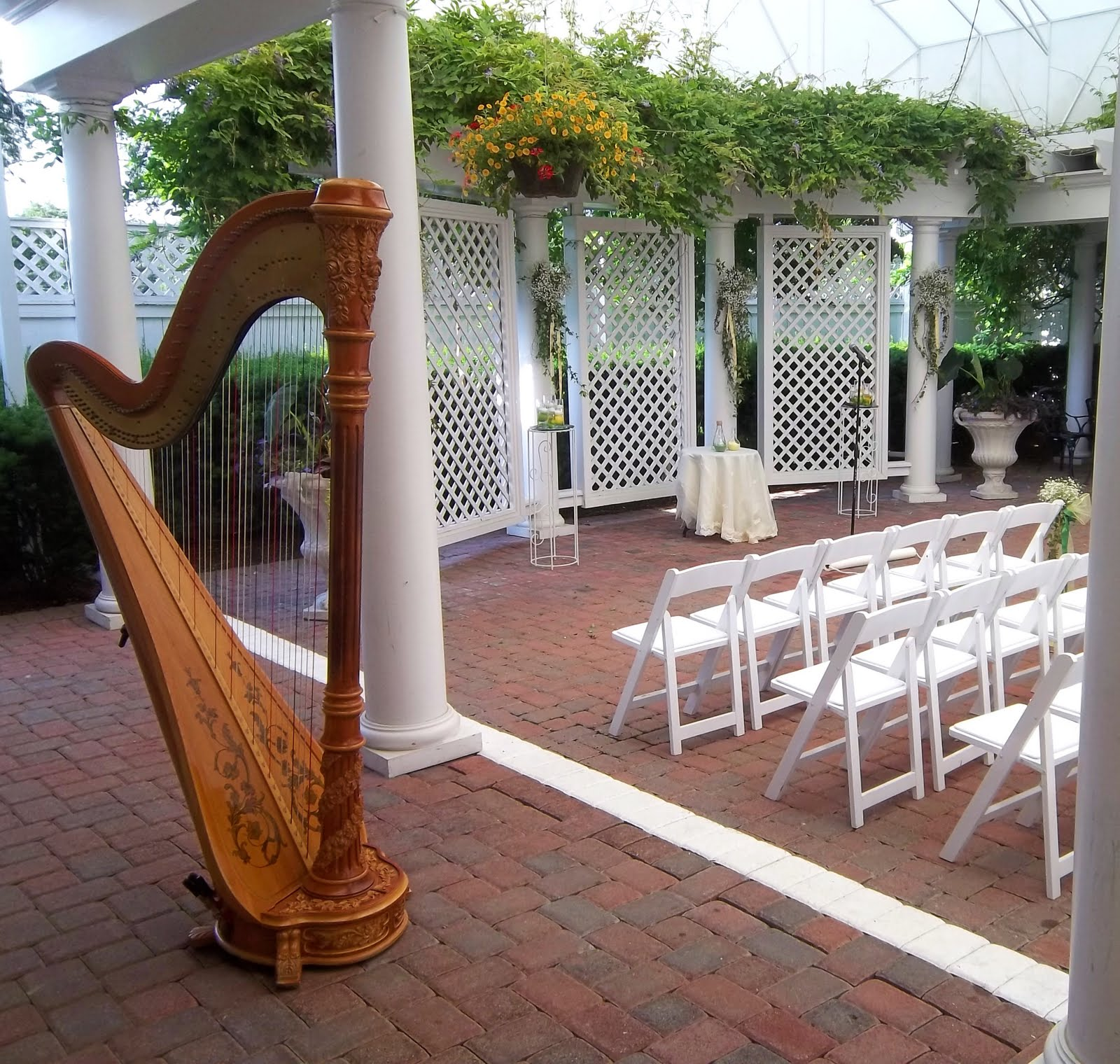 cincinnati wedding harpist manor house wedding ceremony