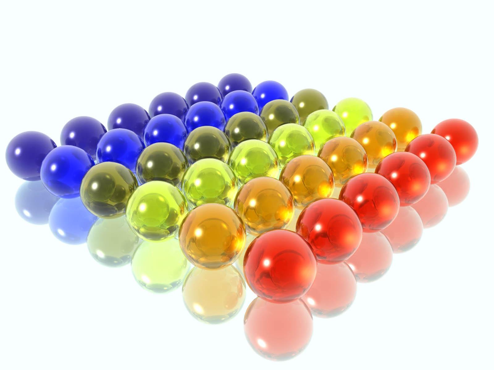 Обои для рабочего стола стеклянные шарики