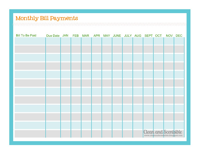 Monthly+Bill+Payment+Log Monthly Bill Payment Log http://www ...