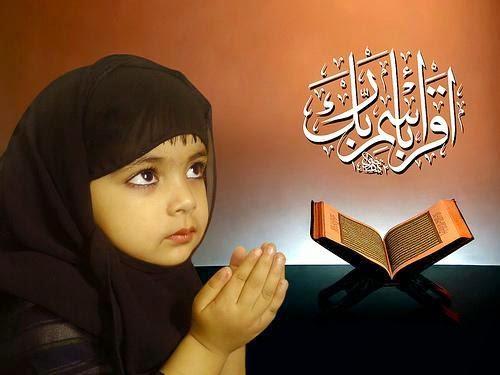 Gambar DP BBM Doa Islami Anak Berdoa Muslimah