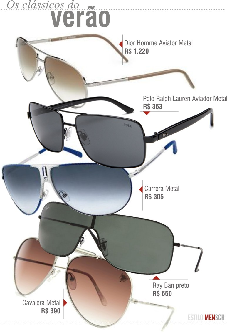 ESTILO  Óculos de sol, saiba como escolher o parceiro ideal nesse verão -  Revista Mensch 23d65bfd46