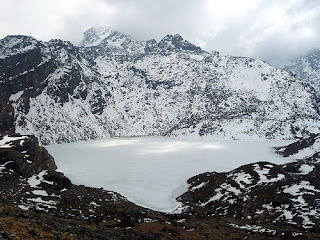 Gosaikunda Lake situated in Langtang National Park in Rasuwa Nepal