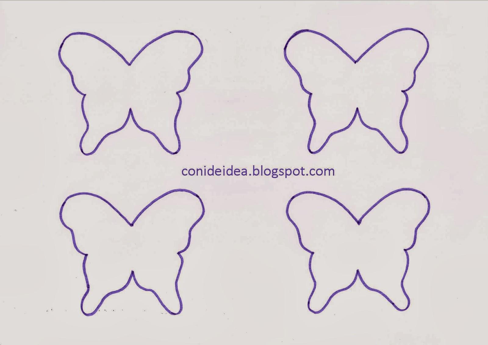 Perfecto Plantilla Para Colorear Mariposa Ornamento - Dibujos Para ...