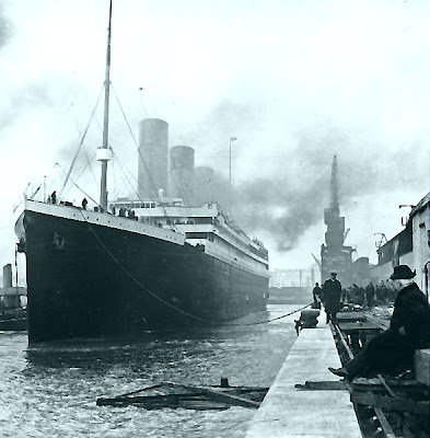 Titanic in dock at Southampton April 14 1912