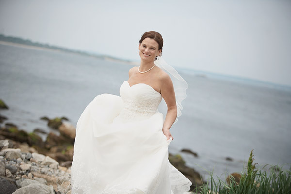 narragansett wedding: bride