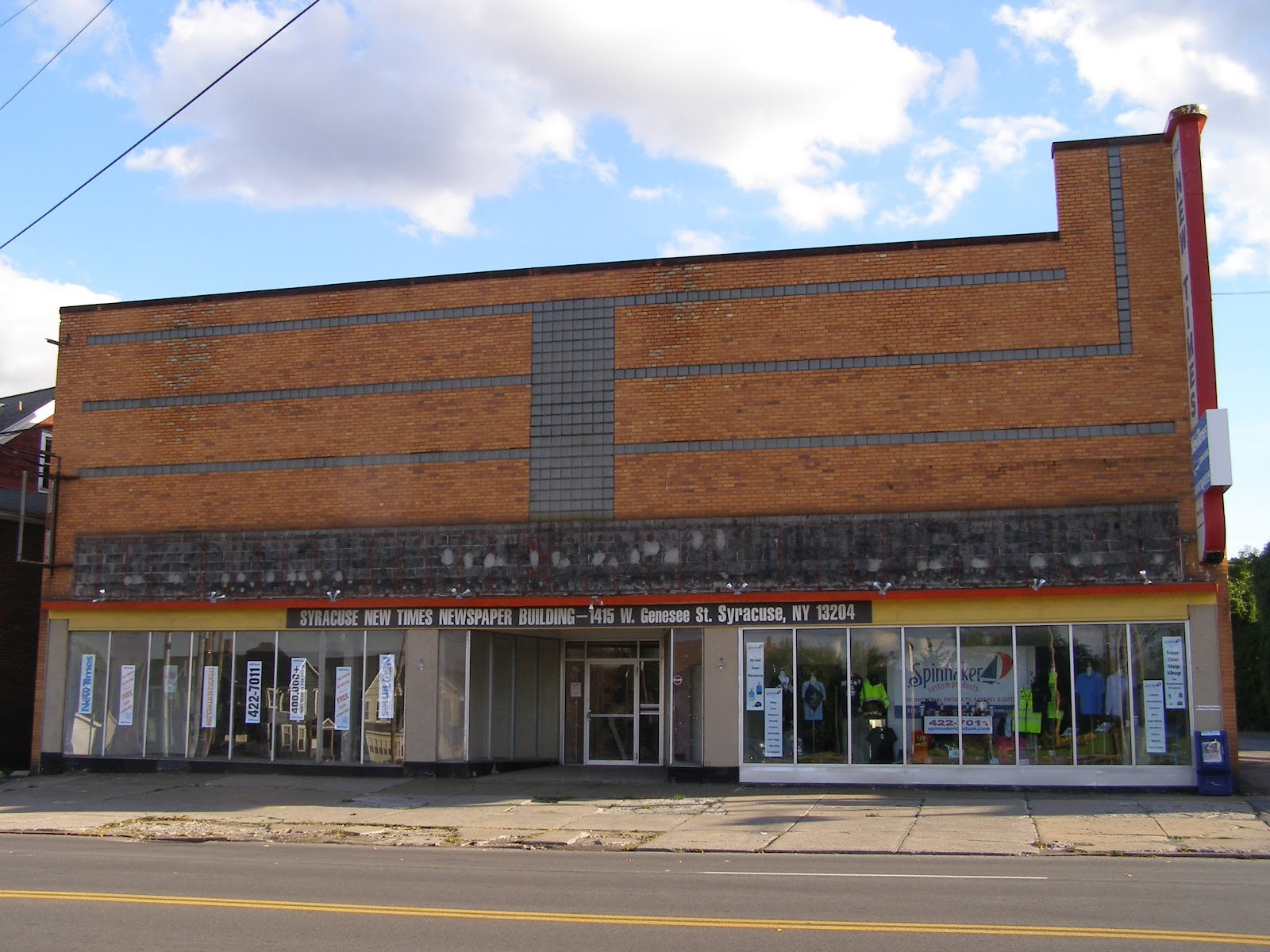 Furniture store building - When Giminski And Yates Built The Store It Must Have Been Striking As It Still Is In Some Ways With Its Flat Geometric Facade Made Of Brick And Glass