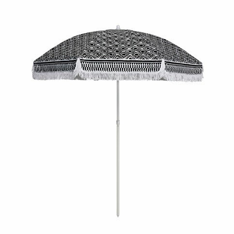 Bellame Tribal Print Beach Umbrella - Black and White