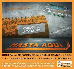Concentración en Delegación del Gobierno, viernes 19 julio a las 12 H