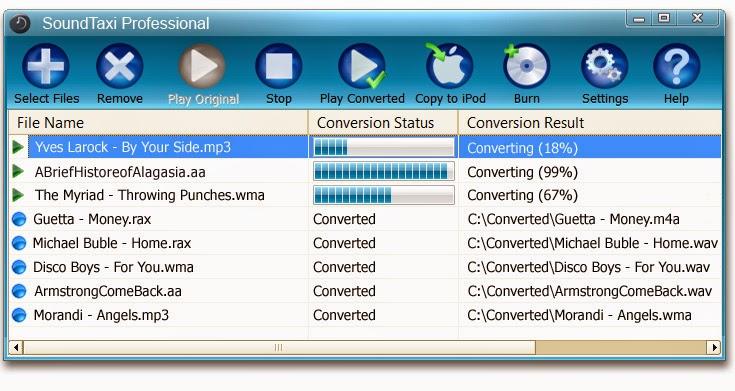 تحميل برنامج لتحويل الصوت إلى الجوال, SoundTaxi Professional