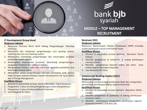 Lowongan Kerja BANK BJB Syariah Bandung Mulai Bulan JANUARI Terbaru 2015