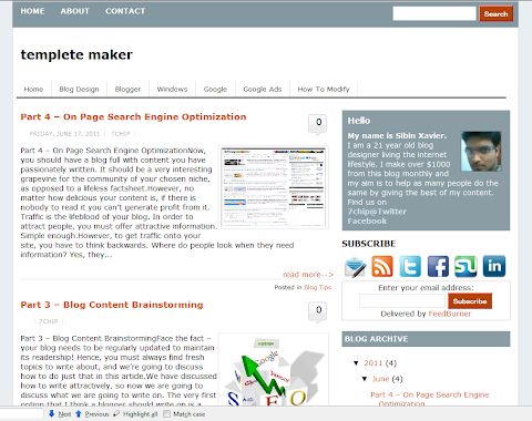 Blogger Mint 2 Blogger Theme