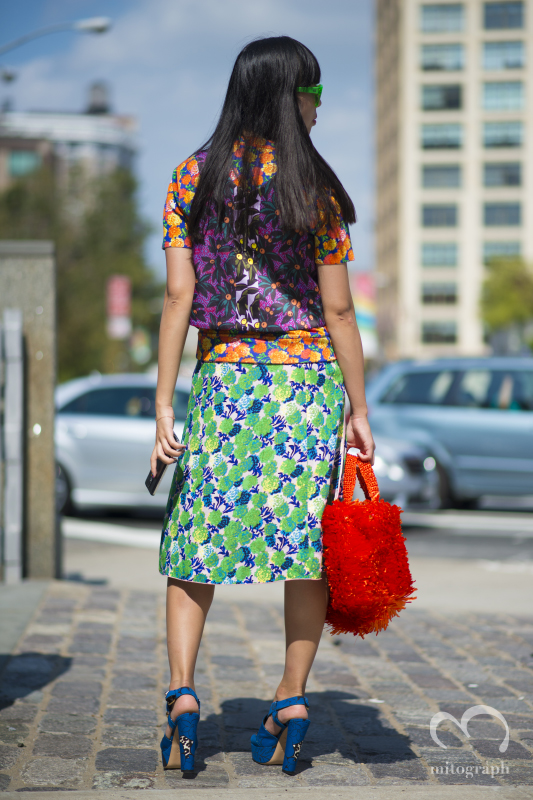 Susie Lau after Jason Wu 2015 Spring Summer show during New York Fashion Week NYFW